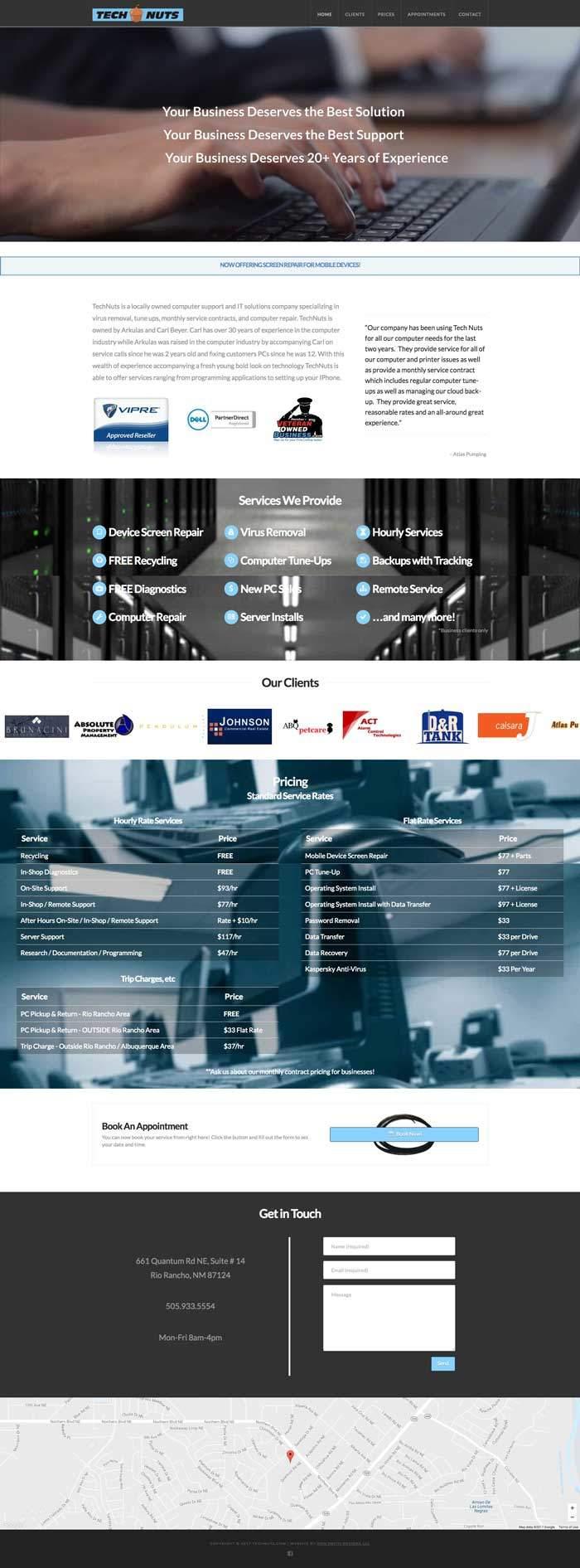 Full Website Screenshot for Technuts.com